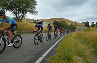 The Black Spoke team during stage four of the NZ Cycle Classic UCI Oceania Tour (Te Wharau-Admiral Hill Queen Stage) in Wairarapa, New Zealand on Saturday, 18 January 2020. Photo: Dave Lintott / lintottphoto.co.nz