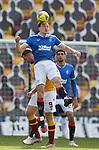 27.09.2020 Motherwell v Rangers:  George Edmundson and Jordan White
