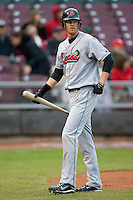 Kyle Russell #25 of the Great Lakes Loons walks back to dugout after striking out at Fifth Third Field April 21, 2009 in Dayton, Ohio. (Photo by Brian Westerholt / Four Seam Images)