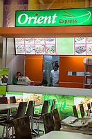 Yogyakarta, Java, Indonesia.  Ambarrukmo Shopping Mall.  Chinese Restaurant Offering Halal Meat in the Food Court.