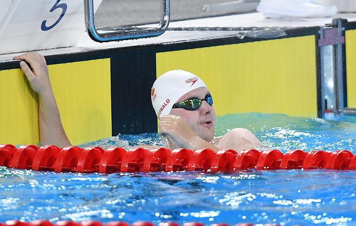Tyson MacDonald, Lima 2019 - Para Swimming // Paranatation.<br /> Tyson MacDonald competes in Para Swimming // Tyson MacDonald participe en paranatation. 25/08/2019.
