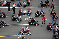 Pictured: Fans outside the stadium Saturday May 2016<br /> Re: Manic Street Preachers at the Liberty Stadium, Swansea, Wales, UK