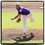 Starting pitcher Caden Grice (31) of the Clemson Tigers pitched five shutout innings in Game 2 of the Orange-Purple intrasquad scrimmage series as Orange got the win 3-1 on Saturday, November 21, 2020, at Doug Kingsmore Stadium in Clemson, South Carolina. (Tom Priddy/Four Seam Images)