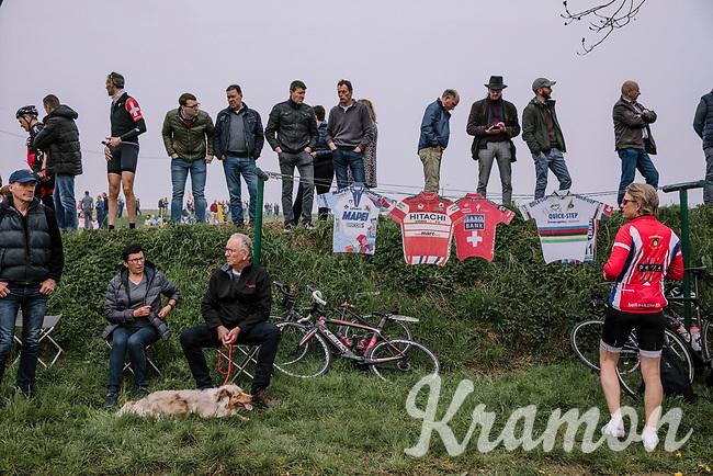 Fans on the side of the Paasestraat during the 16th Ronde Van Vlaanderen<br /> <br /> Elite Womans Race (1.WWT)<br /> <br /> One day race from Oudenaarde to Oudenaarde<br /> ©Jojo Harper for Kramon