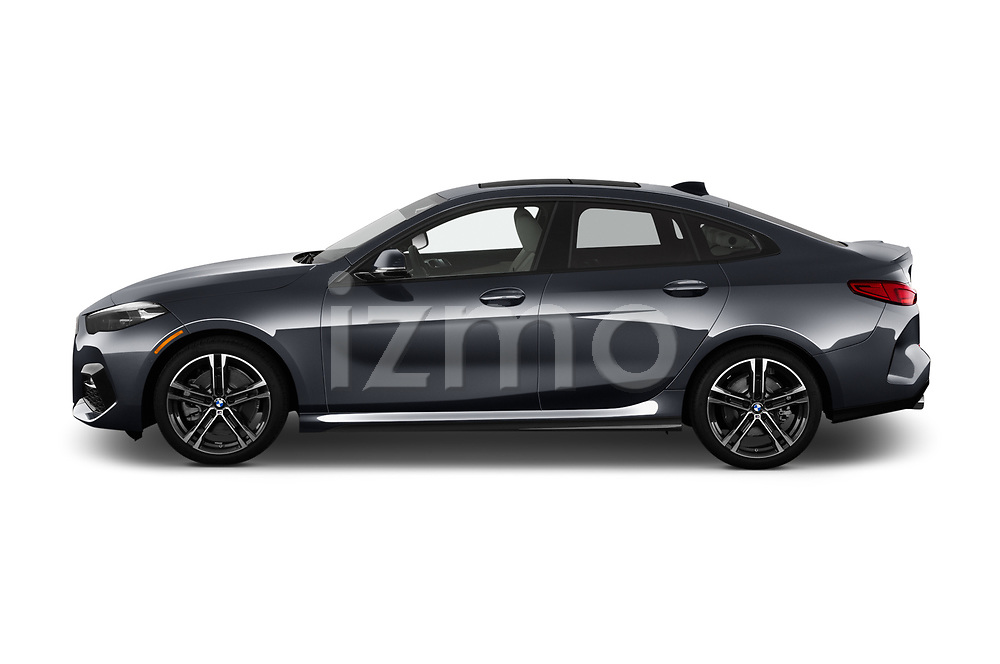 Car Driver side profile view of a 2020 BMW 2-Series M-Sport 4 Door Sedan Side View