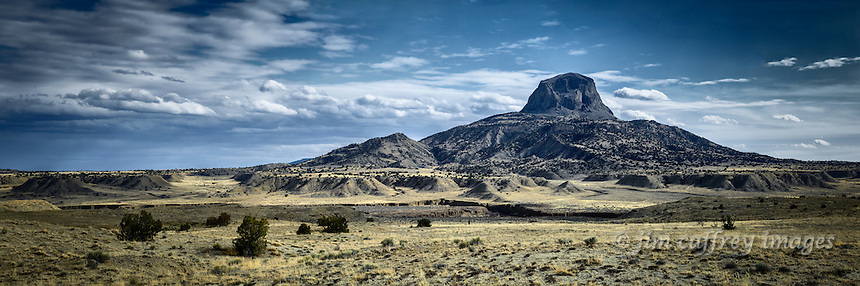 Cabezon Peak and the Rio Puerco drainage in New Mexico's Rio Puerco Valley.