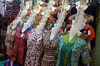 Yogyakarta, Java, Indonesia.  Women's Dresses, Beringharjo Market.