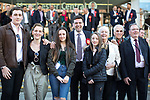 © Joel Goodman - 07973 332324 . 05/05/2017 . Manchester , UK . ANDY BURNHAM poses for photos with his family outside the venue , after winning the race . The count for council and Metro Mayor elections in Greater Manchester at the Manchester Central Convention Centre . Photo credit : Joel Goodman
