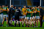 Kerry Manager Peter Keane talking to The Kerry team during the Munster GAA Football Senior Championship Semi-Final match between Cork and Kerry at Páirc Uí Chaoimh in Cork.