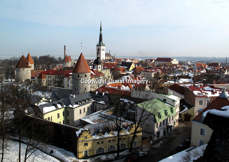 Tallinn is the capital and largest city of Estonia. It is situated on the northern coast of the country, on the shore of the Gulf of Finland, 50 mles south of Helsinki, east of Stockholm and west of Saint Petersburg. Tallinn's Old Town is listed as a UNESCO World Heritage Site. <br /> Photo by Mike Rynearson/Quest Imagery