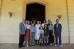 La llum d'Elna.<br /> Visita al rodaje.<br /> Foto de familia con los actores, guionista & productores del film.
