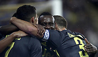 Calcio, Serie A: Parma - Juventus, Parma stadio Ennio Tardini, 1 settembre 2018.<br /> Juventus' Blaise Matuidi (c) celebrates after scoring with his teammates during the Italian Serie A football match between Parma and Juventus at Parma's Ennio Tardini stadium, September 1, 2018. <br /> UPDATE IMAGES PRESS/Isabella Bonotto