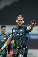 Alun Wyn Jones of Ospreys in action during the Heineken Champions Cup Round 5 match between the Ospreys and Saracens at the Liberty Stadium in Swansea, Wales, UK. Saturday January 11 2020.