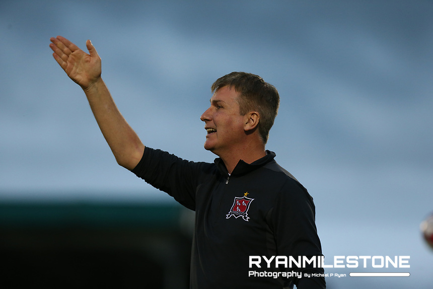 Stephen Kenny during the SSE Airtricity League Premier Division game between Limerick FC and Dundalk FC on Friday 31st August 2018 at Markets Field, Limerick. Photo By Michael P Ryan