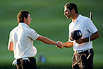 Rory McIlroy and Alvaro Quiros during Round 3 of the UBS Hong Kong Golf Open 2011 at Fanling Golf Course in Hong Kong on 3 December 2011. Photo © Victor Fraile / The Power of Sport Images