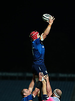 2nd October 2020; RDS Arena, Dublin, Leinster, Ireland; Guinness Pro 14 Rugby, Leinster versus Dragons; Josh van der Flier (Leinster) gathers the lineout ball