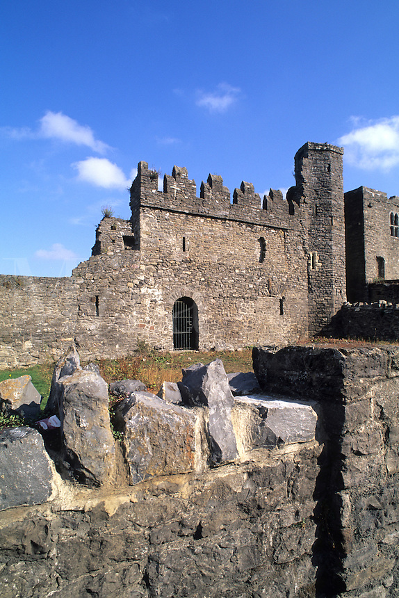 Old Swords castle built in 1060, Swords, Ireland