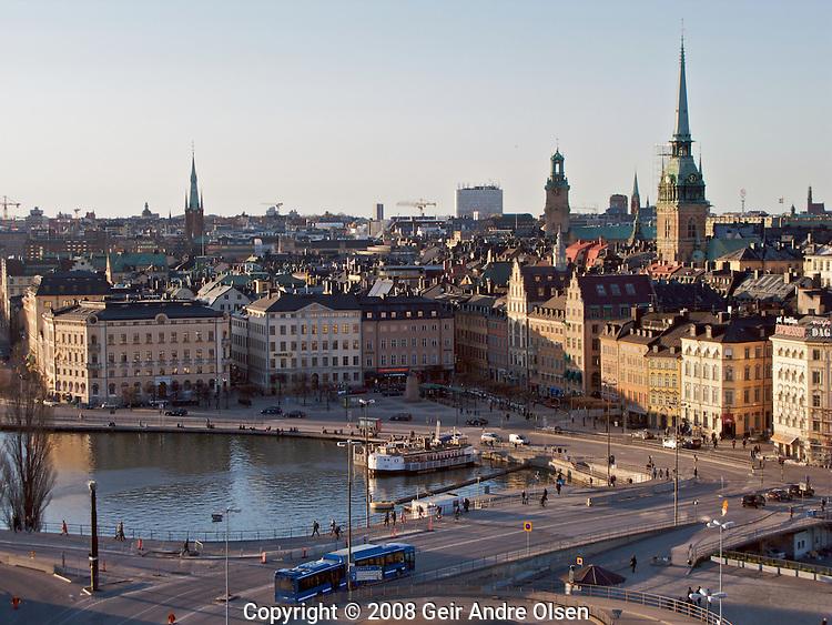 Gamla stan, called Staden mellan broarna (The Town between the Bridges), is the old town of Stockholm, Sweden.