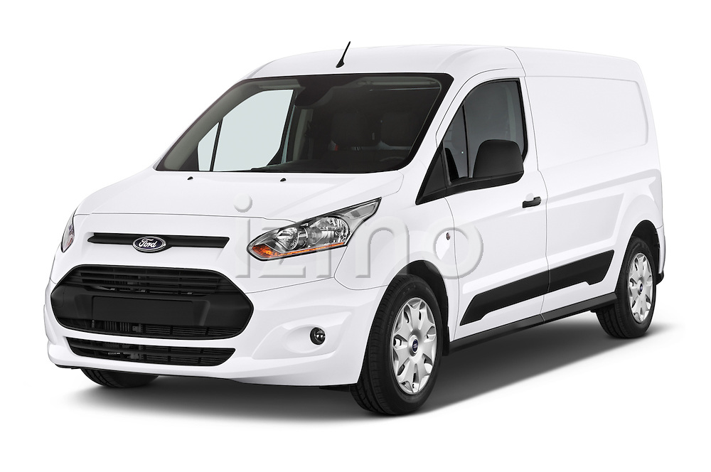 2015 Ford Transit Connect Trend 5 Door Minivan Angular Front stock photos of front three quarter view