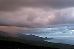 Sunrise with clouds on the south of la Réunion nearby le Tremblet