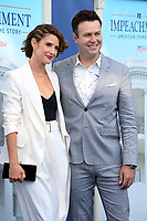 """LOS ANGELES, USA. September 02, 2021: Cobie Smulders & Taran Killam at the premiere for FX's """"Impeachment: American Crime Story"""" at the Pacific Design Centre.<br /> Picture: Paul Smith/Featureflash"""