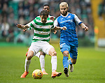 Celtic v St Johnstone…18.02.18…   Celtic Park    SPFL<br />Cristian Gamboa and Richie Foster<br />Picture by Graeme Hart. <br />Copyright Perthshire Picture Agency<br />Tel: 01738 623350  Mobile: 07990 594431
