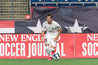 FOXBOROUGH, MA - SEPTEMBER 1: Noah Franke #15 of FC Tucson looks to pass during a game between FC Tucson and New England Revolution II at Gillette Stadium on September 1, 2021 in Foxborough, Massachusetts.
