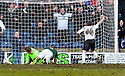 Raith Rovers' Lewis Vaughan(16) celebrates after he scores their second goal.