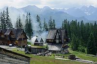 Dorf  in der Hohen Tatra, Woiwodschaft Kleinpolen (Województwo małopolskie), Polen, Europa<br /> Village in the , Poland, Europe