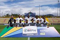 BOGOTA - COLOMBIA, 20-09-2020: Formación de Llaneros.Fortaleza CEIF  y Llaneros en partido por la fecha 8 del Torneo BetPlay DIMAYOR I 2020 jugado en el estadio Metropolitano de Techo de la ciudad de Bogota. /Team of Llaneros. Fortaleza CEIF and Llaneros in match for the date 8 as part of BetPlay DIMAYOR Tournament I 2020 played at the Metropolitano de Techo stadium of Bogota city. Photos: VizzorImage / Samuel Norato / Contribuidor