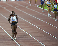 26th August 2021; Lausanne, Switzerland;  American runner Price pulls up and withdraws during for womens 1500m at Diamond League athletics meeting  at La Pontaise Olympic Stadium in Lausanne, Switzerland.
