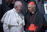 Pope Francis Cardinal Angelo Bagnasco. during of a weekly general audience at St Peter's square in Vatican.June 27, 2018