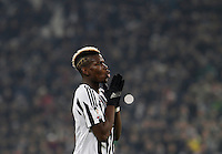 Calcio, semifinali di andata di Coppa Italia: Juventus vs Inter. Torino, Juventus Stadium, 27 gennaio 2016.<br /> Juventus' Paul Pogba reacts during the Italian Cup semifinal first leg football match between Juventus and FC Inter at Juventus stadium, 27 January 2016.<br /> UPDATE IMAGES PRESS/Isabella Bonotto
