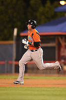 Bowie Baysox outfielder Chris Marrero (33) running the bases on a double during a game against the Binghamton Mets on August 3, 2014 at NYSEG Stadium in Binghamton, New York.  Bowie defeated Binghamton 8-2.  (Mike Janes/Four Seam Images)
