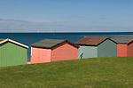 Tankerton beach huts near Whitstable Kent England.