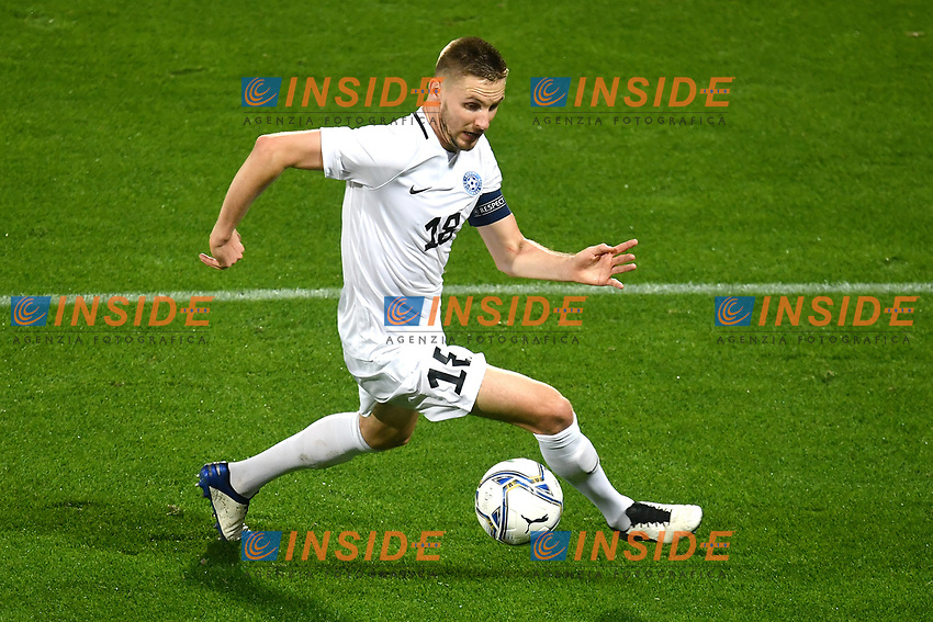 Karol Mets of Estonia in action during the friendly football match between Italy and Estonia at Artemio Franchi Stadium in Firenze (Italy), November, 11th 2020. Photo Andrea Staccioli/ Insidefoto