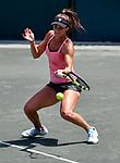 April 6,2018:   Bernarda Pera (USA) loses to Madison Keys (USA) 6-2, 6-7, 7-5, at the Volvo Car Open being played at Family Circle Tennis Center in Charleston, South Carolina.  ©Leslie Billman/Tennisclix/CSM