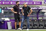 FC Barcelona's coach Quique Setien with his second Eder Sarabia during La Liga match. July 11,2020. (ALTERPHOTOS/Acero)