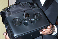 LOS ANGELES - FEB 23:  Jamie Foxx, bag boombox detail at the American Black Film Festival Honors Awards at the Beverly Hilton Hotel on February 23, 2020 in Beverly Hills, CA