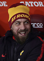 Football, Serie A: AS Roma - Bologna FC, Olympic stadium, Rome, February 18, 2019. <br /> Roma's captain Daniele De Rossi prior to to the Italian Serie A football match between AS Roma and Bologna FC at Olympic stadium in Rome, on February 18, 2019.<br /> UPDATE IMAGES PRESS/Isabella Bonotto