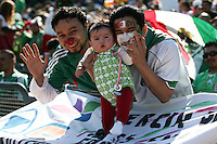 Mexico fans. Mexico defeated Nicaragua 2-0 during the First Round of the 2009 CONCACAF Gold Cup at the Oakland Coliseum in Oakland, California on July 5, 2009.