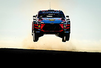 10th October 2020, Alghero, Sardinia, Italy; WRC Rally of Sardinia;   Sordo  gets airborne