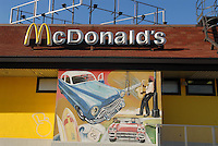 - Milan, Mc Donald's  fast food in the Lorenteggio district....- Milano, fast food Mc Donald's nel quartiere Lorenteggio....