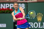 March 13, 2018: Karolina Pliskova (CZE) defeated Amanda Anisimova (USA)  6-1, 7-6(2) at the BNP Paribas Open played at the Indian Wells Tennis Garden in Indian Wells, California. ©Mal Taam/TennisClix/CSM