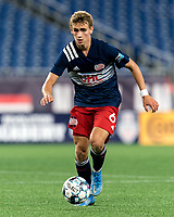 FOXBOROUGH, MA - SEPTEMBER 5: Noel Buck #61 of New Englans Revolution II brings the ball forward during a game between Tormenta FC and New England Revolution II at Gillette Stadium on September 5, 2021 in Foxborough, Massachusetts.