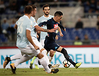 Calcio, Serie A: Roma, stadio Olimpico, 20 settembre 2017.<br /> Napoli's José Maria Callejon (r) is going to score during the Italian Serie A football match between Lazio and Napoli at Rome's Olympic stadium, September 20, 2017.<br /> UPDATE IMAGES PRESS/Isabella Bonotto