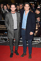 """Elliot Cross and Josh Patterson<br /> at the """"Game of Thrones Hardhome"""" gala screening, Empire, Leicester Square London<br /> <br /> <br /> ©Ash Knotek  D3098 12/03/2016"""