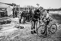 Post-race pain by Arne Baers (BEL/U17)<br /> <br /> Superprestige Zonhoven (BEL) 2018