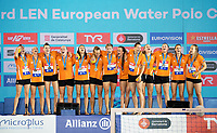 Team NED Team Netherlands<br /> Gold Medal<br /> Paolo Barelli LEN President<br /> Medal Ceremony<br /> Barcelona 27/07/2018 Piscines Bernat Picornell<br /> Women Final 5th - 6th Place<br /> 33rd LEN European Water Polo Championships - Barcelona 2018 <br /> Photo Pasquale Mesiano/Deepbluemedia/Insidefoto