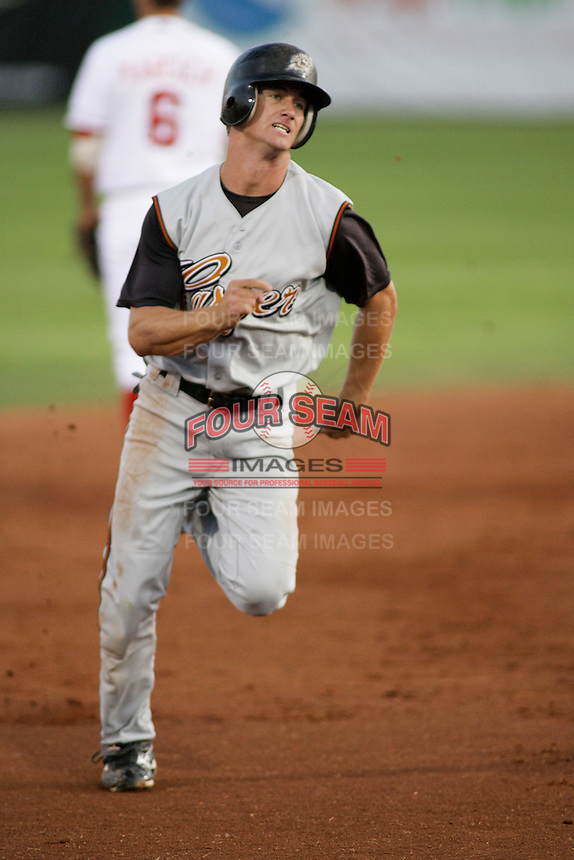 September 1, 2009: Avery Barnes of the Casper Ghosts, Pioneer League Rookie Class A affiliate of the Colorado Rockies, during a game at the Orem Owlz Ballpark in Orem, UT.  Photo by:  Matthew Sauk/Four Seam Images